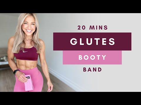 20 Min INTENSE GLUTE WORKOUT at Home with Resistance Band