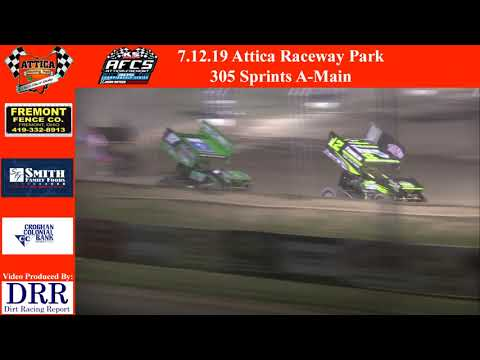 7.12.19 Attica Raceway Park 305 Sprints A-Main