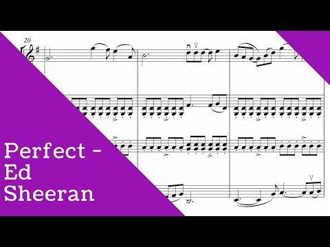 Ed Sheeran - Perfect for string quartet (SHEET MUSIC)