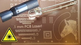 Casually Laser-Exposing 0.2 mm PCB features on a 3D printer