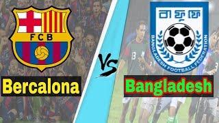 Barcelona vs Bangladesh team awesome funny Football Full match Dream League Soccer Messi