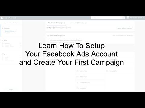 How To Setup Your Facebook Ads Account and Create Your First Facebook Ad