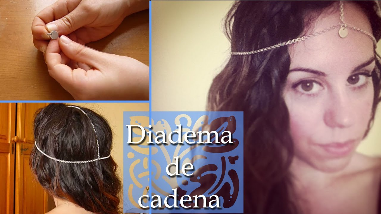 diy como hacer una diadema de cadena para el pelo mejores ideas de sara youtube