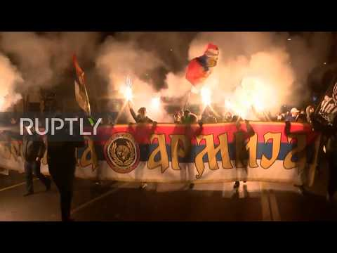 Serbia: Thousands join Belgrade protest against Montenegro's