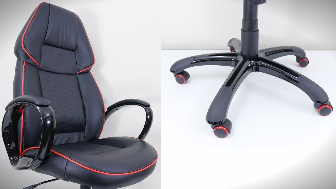 desk chair youtube bed bath and beyond lounge cover worlds sickest office - flash furniture (4k)