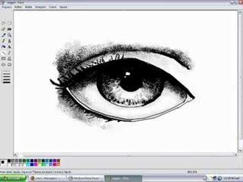 How to draw eyes in MS Paint - YouTube