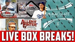 SATURDAY NIGHT BREAKS! 2017 Panini Immaculate, Topps Finest, Topps Clearly Authentic, Archives