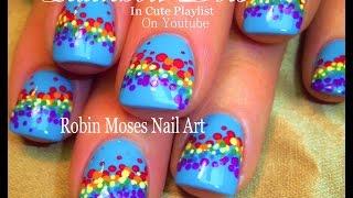 Easy Nail Art Tutorial | Diy Rainbow Dot Nail Design For Beginners!!!