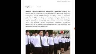 Lowongan Kerja Rekrutmen Staf Non PNS Biro Umum Dan Keuangan LKPP April 2017