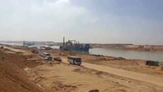 See the first real appearance of the new Suez Canal fully 84 kilomtr