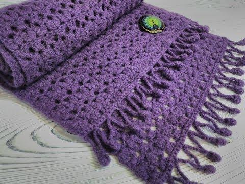 Вязание крючком зимнего шарфа