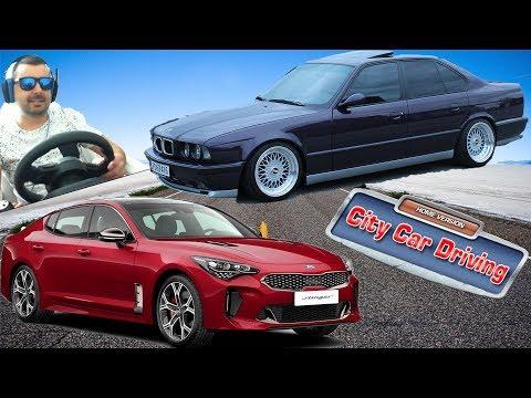 BMW 525 e34-Kia Stinger/Test Drive/ City Car Driving #16