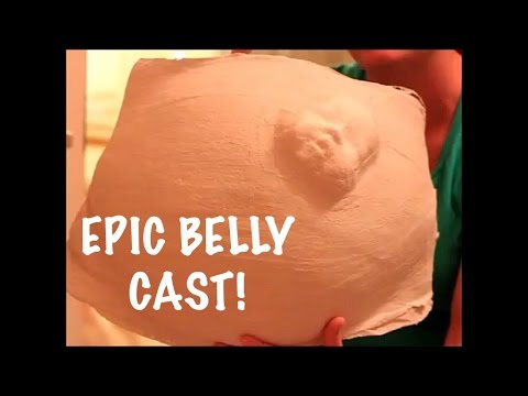 HOW TO MAKE AN INSANELY CRAZY BELLY CAST! DIY | 36 weeks Pregnant