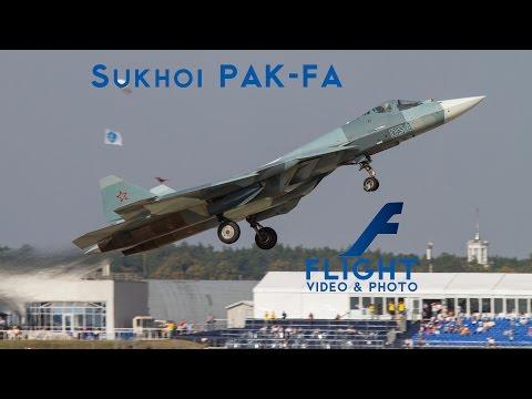 Sukhoi PAK-FA T-50 SPECTACULAR DISPLAY 4K Video UltraHD