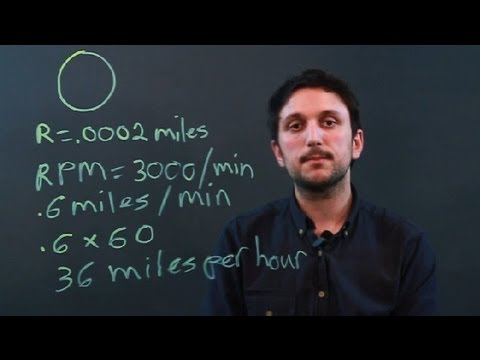 How To Convert Rpm To Mph Using Math Measurement Conversions Youtube