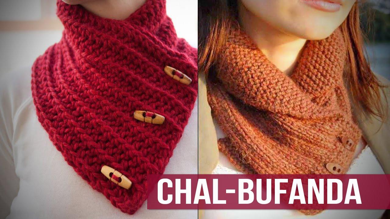 Bufanda - Chal Mujer Tejidos a Crochet Diseños de moda - YouTube