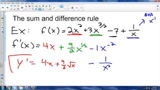 AP Calc - 2.2a - Basic Derivative Rules (R)