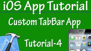 Free iPhone iPad Application Development Tutorial 4 -Custom TabBar Application in iOS