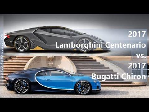 2017 Lamborghini Centenario Vs 2017 Bugatti Chiron (technical Comparison)
