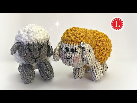 LOOM KNITTING Tiny Dolls - Sheep  - Little Lamb - Loomahat Toys