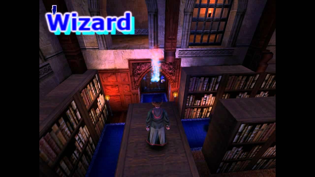 Гарри Поттер и философский камень. Библиотека. - YouTube