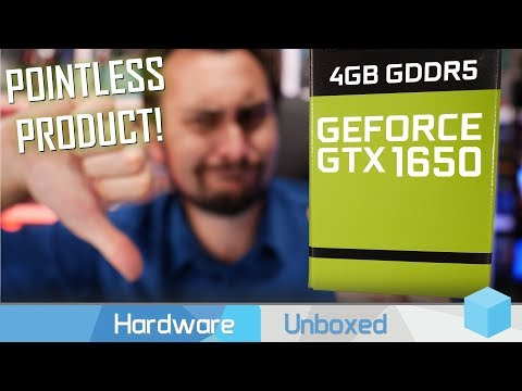 Nvidia GeForce GTX 1650 Review, Horrible Value $150 Graphics Card