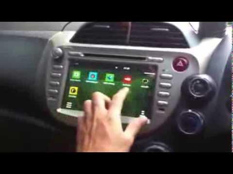 ดู youtube บน เครื่องเสียงติดรถยนต์ ระบบ Android ใน Honda JAZZ GE