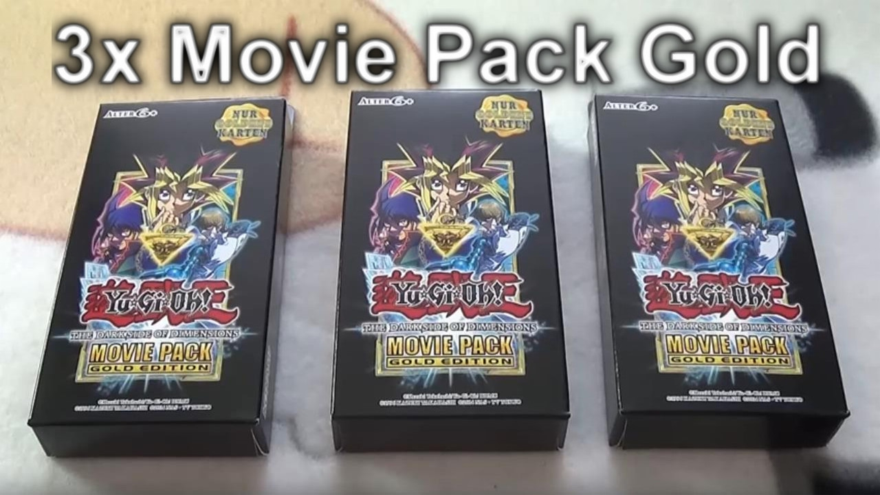 3x Yugioh Movie Pack Gold Edition The Dark Side Of Dimensions