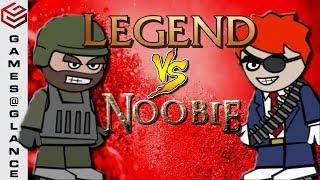 DA2 MiniMilitia When A Noobie Fights With A Legend  !!