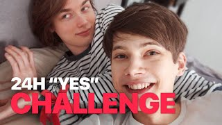 "24 Hours ""YES"" to my Boyfriend! - Couple Challenge"