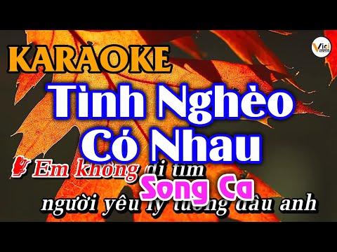 Tình Nghèo Có Nhau – KARAOKE [Song Ca] | Vici Karaoke