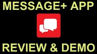 Verizon Messages SMS Text Messaging App with Tablet PC Sync - Review and Demo screenshot 3
