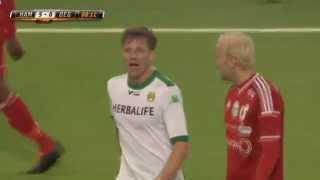 strange yellow card from swedish second division