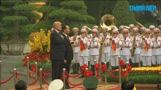 Lễ đón chính thức Tổng thống Mỹ Donald Trump tại Phủ Chủ tịch