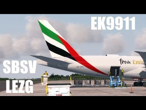 |Prepar3d v3| Emirates Skycargo | Salvador (SBSV) - Zaragoza (LEZG) IVAO
