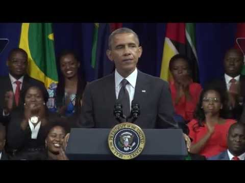 President Obama At The Young African Leaders Town Hall YALI Summit 2014