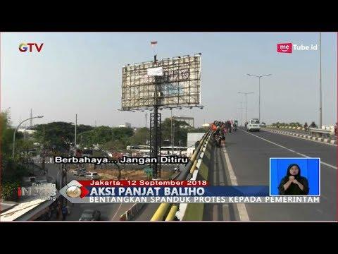 Aksi Pria Panjat Baliho Setinggi 20 Meter di Pasar Rebo - BIS 12/09 Mp3
