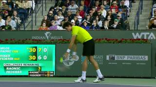 ATP Indian Wells 2012 R3 - Federer vs Raonic HD 1080p highlights