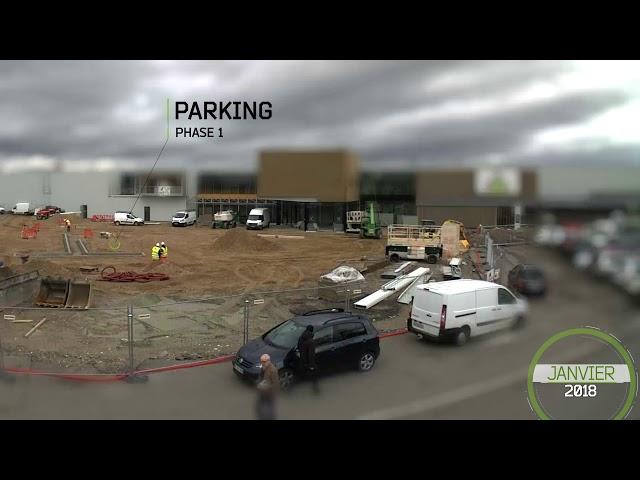 Timelapse LEROY MERLIN - Construction du nouveau magasin
