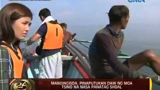 Chinese troops opened fire on Filipino fisherman at Scarborough shoal.