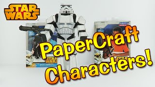 Star Wars Blueprints PaperCraft Stormtrooper Unboxing Toy Review