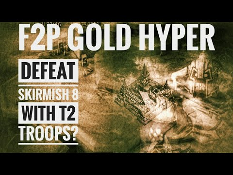 Lords Mobile - Defeat Skirmish 8 With T2 Troops - F2P Gold Hyper Update