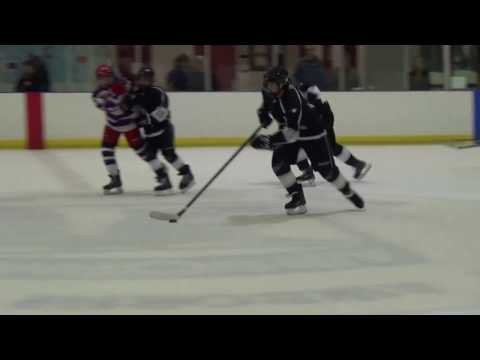 Tyler Rayner with massive open ice hit and hip check vs Eagles