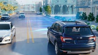 homepage tile video photo for Honda Pilot with Honda Sensing® – Collision Mitigation Braking System™