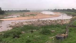 Ret Khudai in Arpa River Bilaspur by JCB Tractor  MPEG 4