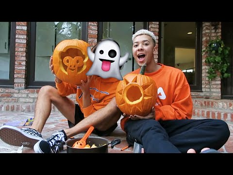 carving pumpkins with my new boyfriend