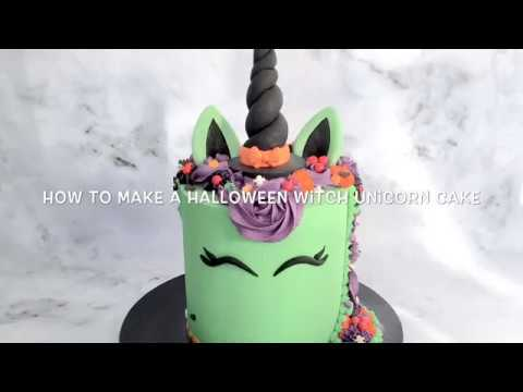 How to make a Witch Unicorn cake (Halloween)