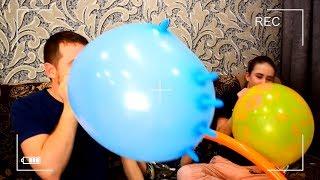 Челлендж вызов принят 🌴 Надуй и лопни перчатку за минуту 🌴 Воздушные шарики 🌴 Надутая перчатка