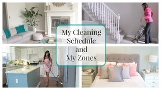 My House Cleaning Schedule and My Zones