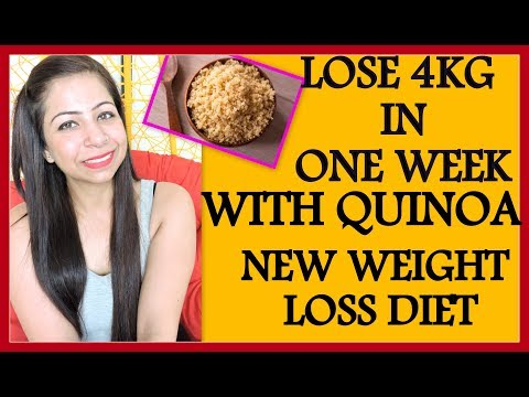 How to Lose Weight Fast 4Kg in 7 Days with Quinoa | Full Day Diet Plan/Meal Plan for Weight Loss
